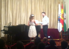 Mayar, MusicLessonsAnywhere student, High Scoreres Concert - Ateneo de Sevilla, October 5 2013