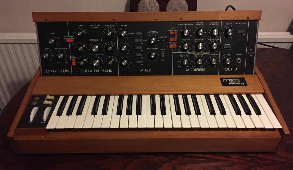 Minimoog after restoration.