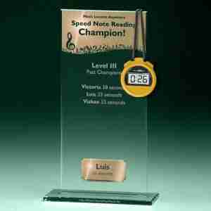 Music Lessons Anywhere Speed Note Reading Level 3 Trophy winner Luis 26 seconds