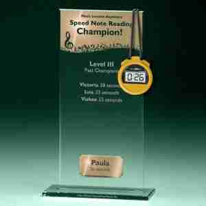 Music Lessons Anywhere Speed Note Reading Trophy