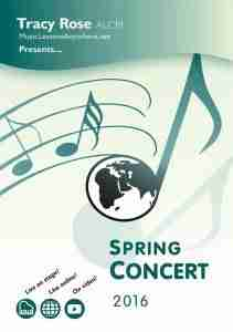 Music Lessons Anywhere Spring Concert Programme 2016