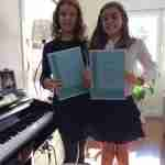 Music Lessons Anywhere online piano students Victoria and Paula