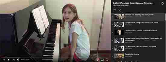Music Lessons Anywhere student showcase Youtube Playlist