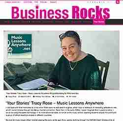 Online Music Lessons Anywhere Business Rocks article
