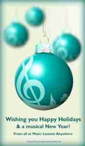 Online music lessons happy holidays