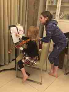 Skype online flute lessons and Skype online violin lessons, Erin and Lucy, Music Lessons Anywhere