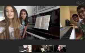Skype piano lessons students ABRSM exam concert