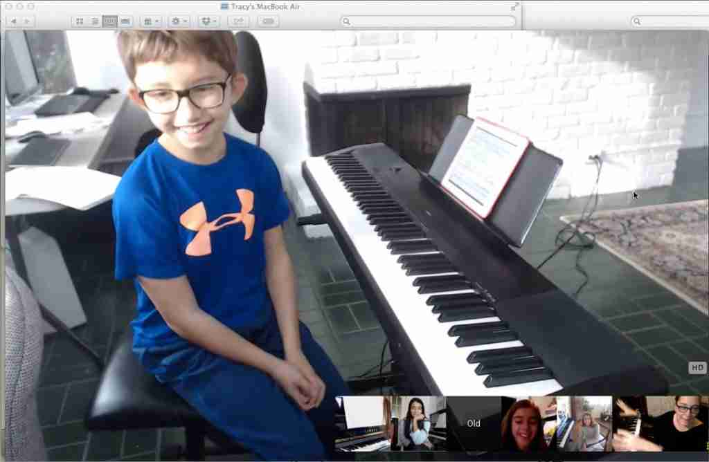 Homeschool Music Online student John - Music Lessons Anywhere online music school