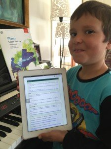 Music Lessons Anywhere piano lessons live online student with lesson notes
