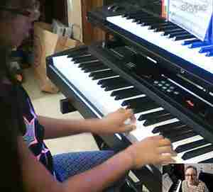 Shriya-Online piano student - Music Lessons Anywhere