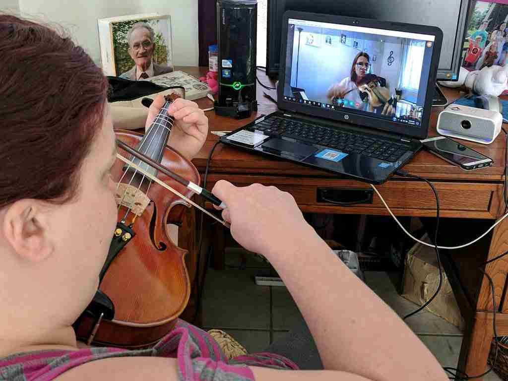 Skype violin lessons online - Music Lessons Anywhere