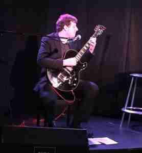 Skype guitar teacher David, performing at the Traverse Theatre Edinburgh, UK