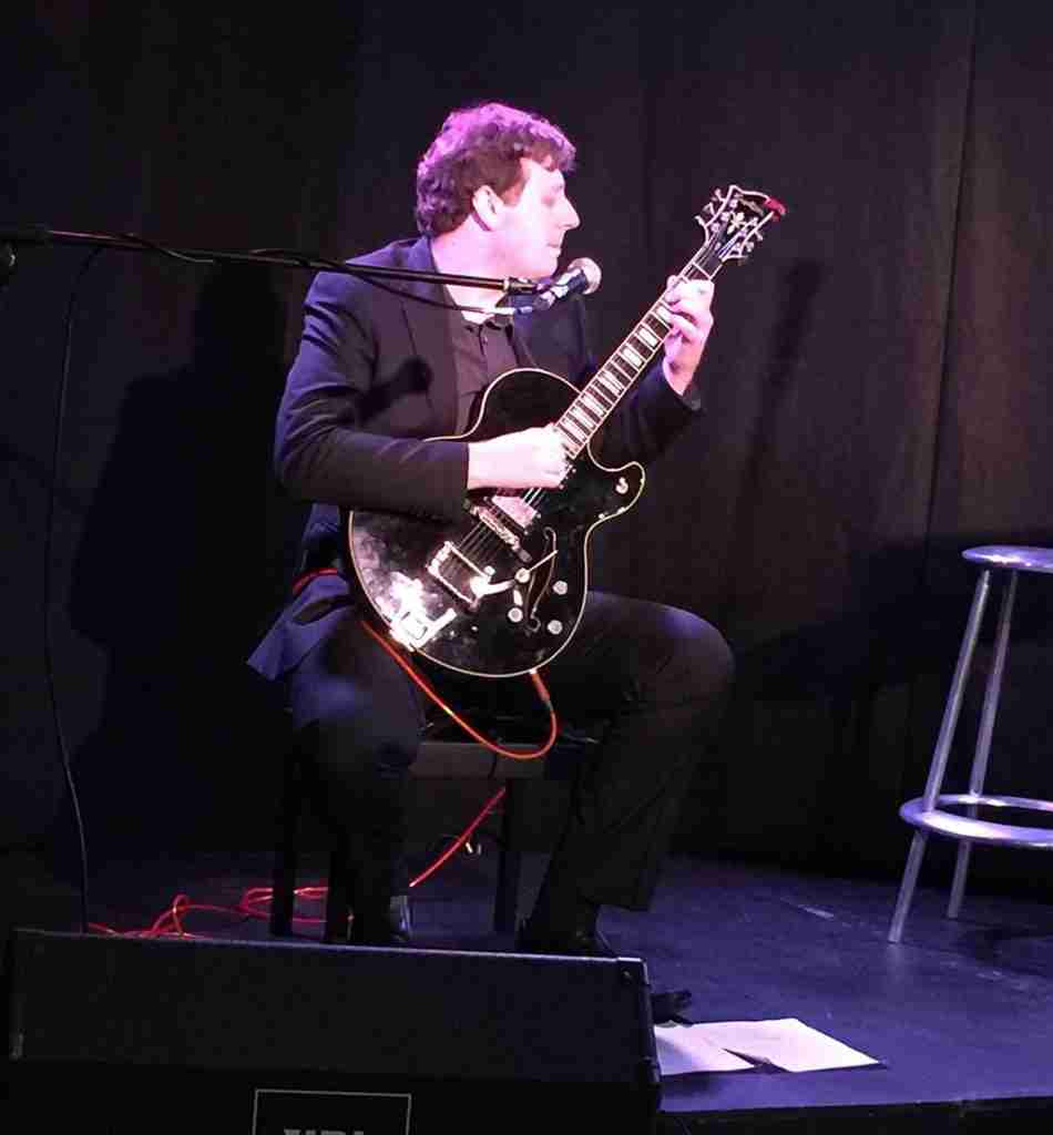 Skype guitar teacher David, performing at the Traverse, Theatre Edinburgh, UK