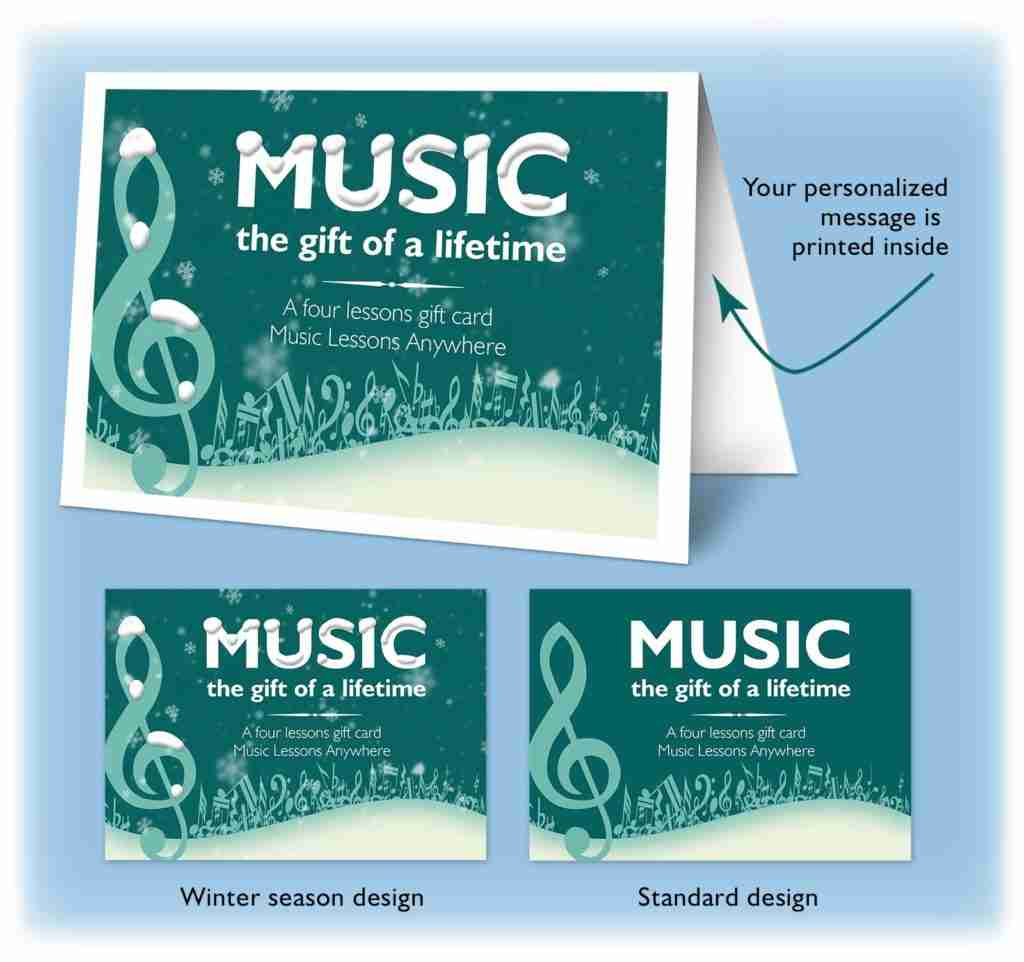 Online music lessons gift card