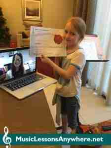 Lucy - Skype violin lessons student of the month