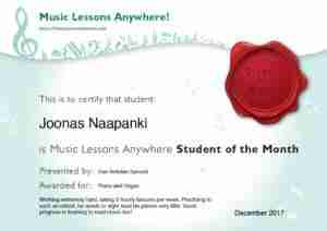 Joonas Naapanki - Music Lessons Anywhere live online piano and Skype organ lessons