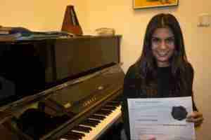 Skype advanced piano lessons Student of the Month