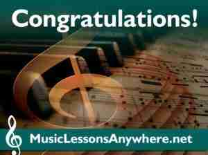 Congratulations Skype piano lessons students - Music Lessons Anywhere