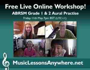 Free ABRSM Grade 1 2 Aural Practise Skype online workshop