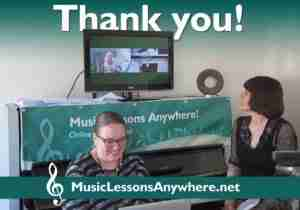 Skype concert online Music Lessons Anywhere