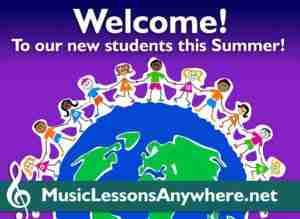 Welcome new Skype music lessons students