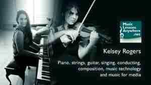 Kelsey Skype music for media online lessons
