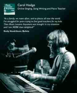 Carol live online singing lessons review - Emily Hendriksen