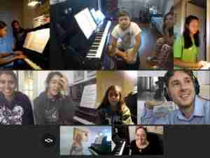 Group Skype music lessons live online