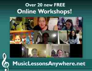New free online music workshops at Music Lessons Anywhere