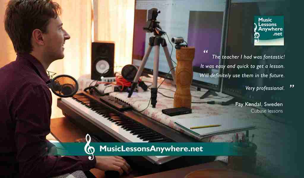 Skype Cubase lessons online review - Dan - Music Lessons Anywhere