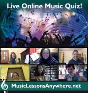 Live Online Music Quiz - Music Lessons Anywhere