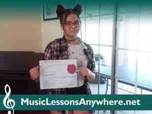 Music Student Of The Month Certificate - Jayden at Music Lessons Anywhere