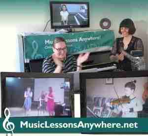 Live online concert at online music school Music Lessons Anywhere