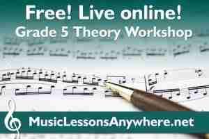 ABRSM Grade 5 Theory Workshops live online