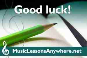 Live online Theory lessons - Good luck ABRSM Grade 5 exam