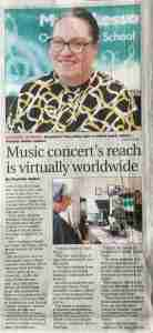 Live online annual concert---Music Lessons Anywhere Barnsley Chronicle
