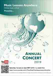 Music Lessons Anywhere Annual Concert Programme 2019