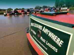 Music Lessons Anywhere narrowboat Skype music lessons live online
