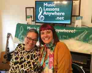 Tracy Rose and Carol Hodge - Live online music lessons at Music Lessons Anywhere