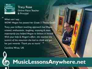 Skype ABRSM Grade 5 theory lessons live online review - Tracy Rose - Music Lessons Anywhere