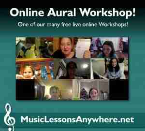 Skype aural lessons online - Music Lessons Anywhere