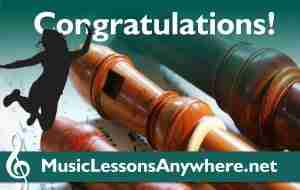 Congratulations live online recorder lessons abrsm exam