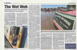 Towpath Talk newspaper article about Music Lessons Anywhere narrowboat