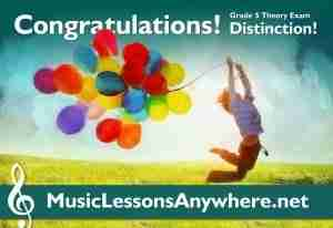 ABRSM Grade 5 Theory Exam Distinction with online music school Music Lessons Anywhere