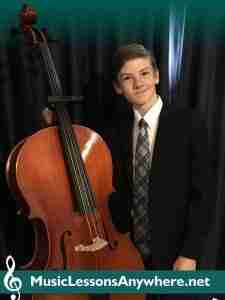 Skype cello lessons online - Andrew student of the month certificate - Music Lessons Anywhere