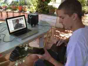 Skype guitar lessons online live