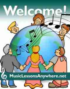 Welcome new live online music students - Music Lessons Anywhere