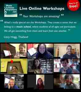 Live online music Workshop review - Music Lessons Anywhere