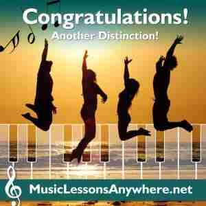 Congratulations ABRSM piano exam distinction - Music Lessons Anywhere