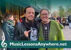 Skype guitar lessons live online with Carlos at Music Lessons Anywhere
